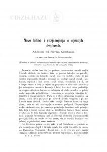 Nove biline i razjasnjenja o njekojih dvojbenih : Addenda ad Floram Croaticam / Lj. Vukotinović