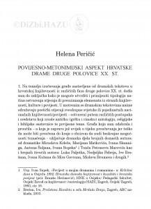 Povijesno-metonimijski aspekt hrvatske drame druge polovice XX. st. / Helena Peričić