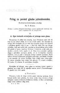 Prilog za poviest glasbe južnoslovenske : kulturno-historijska studija [nastavak] / F. Š. Kuhač