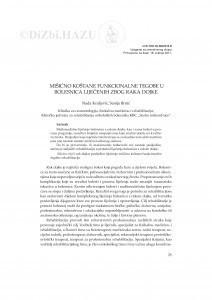 Mišićno-koštane funkcionalne tegobe u bolesnica liječenih zbog raka dojke / Nada Kraljević, Senija Brnić
