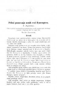 Prilozi poznavanju ustnih česti Hymenoptera : <I.> Apidae / A. Langhoffer