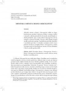 Hrvatska i Hrvati u Bosni i Hercegovini / Davorin Rudolf