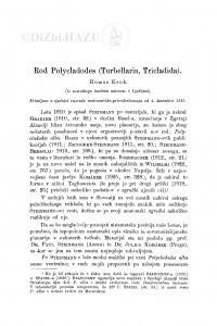 Rod Polycladodes (Turbellaria, Tricladida). / R. Kenk