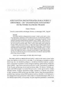 Adjuvantna imunoterapija raka dojke u Hrvatskoj - od