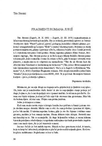 Fragmenti romana Juriš / Tito Strozzi