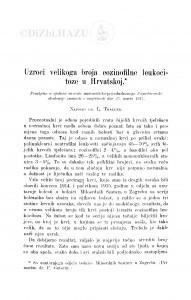 Uzroci velikoga broja eozinofilne leukocitoze u Hrvatskoj / L. Thaller