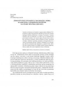 Zdravstvene ustanove u Dalmaciji u doba klasicizma, s posebnim osvrtom na staru splitsku bolnicu / Silva Kalčić