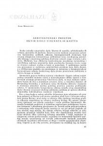 Arhitektonski prostor - okvir djelu Vincenta iz Kastva / Andre Mohorovičić