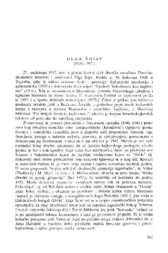 Olga Šojat : (1908.-1997.) / Josip Vončina