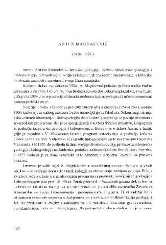 Antun Magdalenić : (1928.-1994.) / Velimir Kranjec,