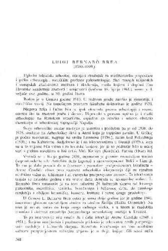Luigi Bernabo Brea (1910.-1999.) / Božidar Čečuk