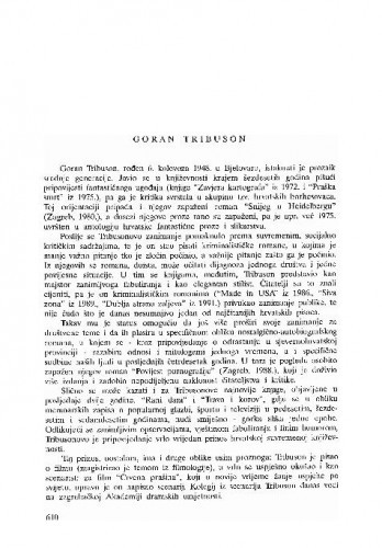 Goran Tribuson