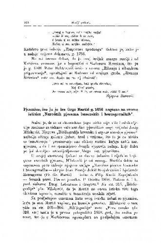 Pjesmica, što ju je fra Grgo Martić g. 1858. napisao na svome istisku