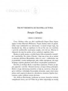 Crno i crveno : tri suvremena kubanska autora / Sergio Chaple ; sa španjolskog prevela Željka Lovrenčić