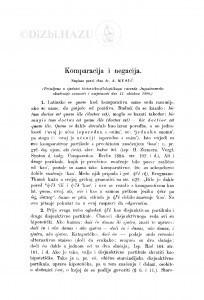 Komparacija i negacija / A. Musić