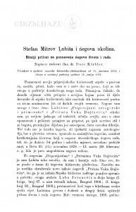 Stefan Mitrov Lubiša i ńegova okolina : sitniji prilozi za poznavańe ńegova života i rada / Đ. Körbler