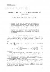 Bregman and Burbea-Rao divergence for matrices / M. Adil Khan, M. Niezgoda, J. Pečarić