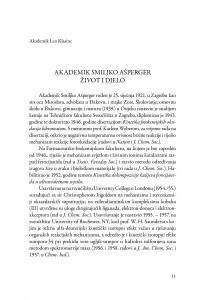 Akademik Smiljko Ašperger : život i djelo : (govor na komemoraciji u palači Akademije 5. svibnja 2015.) / Leo Klasinc