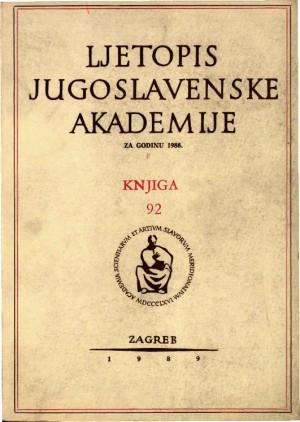 1988. Knj. 92 / urednik Hrvoje Požar