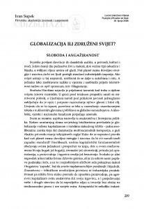 Globalizacija ili združeni svijet? / Ivan Supek
