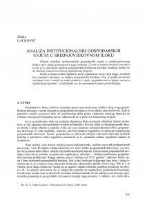 Analiza institucionalnih gospodarskih uvjeta u srednjovjekovnom Iloku / Zlatko Lacković