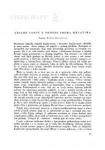 Cesare Cantú u odnosu prema Hrvatima / M. Deanović