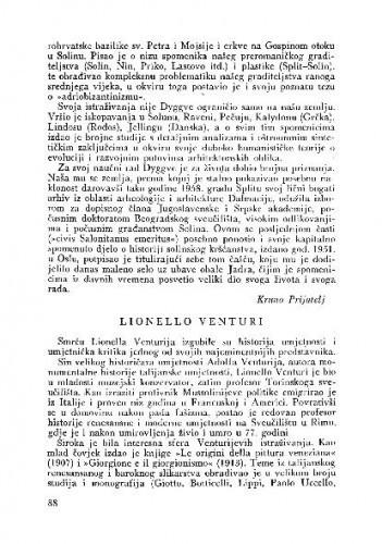 Lionello Venturi / Kruno Prijatelj