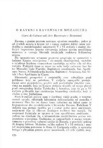 O Raveni i ravenskim mozaicima / Gašparović Ljerka