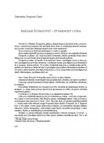 Fabijan Šovagović - Stvarnost i igra / Dubravka Crnojević-Carić