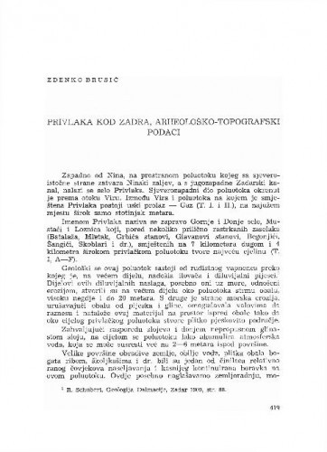 Privlaka kod Zadra : arheološko-topografski podaci / Zdenko Brusić