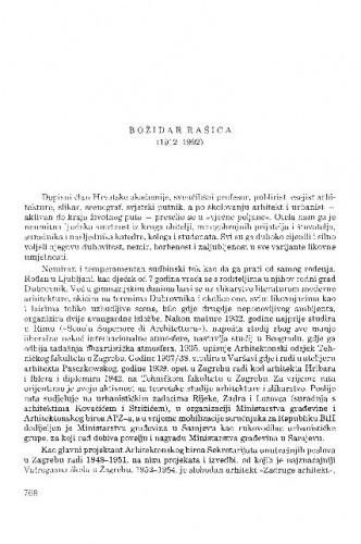 Božidar Rašica (1912-1992) / Srebrenka Sekulić-Gvozdanović