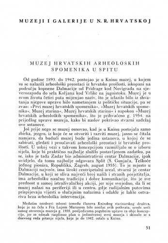 Muzej hrvatskih arheoloških spomenika u Splitu / Stipe Gunjača