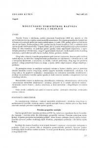 Mogućnosti turističkog razvoja Ivanca i okolice / Eduard Kušen