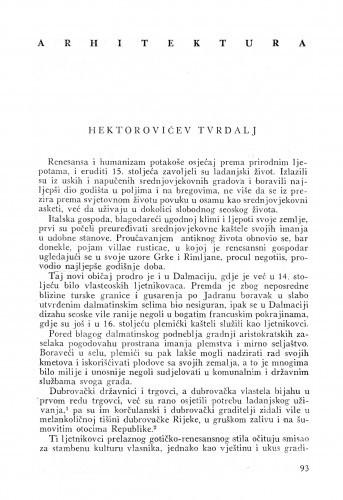 Hektorovićev Tvrdalj / Cvito Fisković