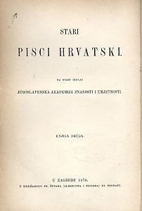Pjesme Šiška Menčetića Vlahovića i Gjore Držića / skupio Vatroslav Jagić