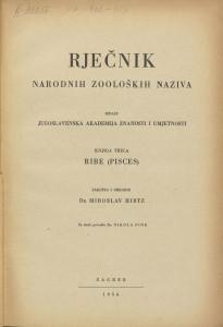 Knj. 3 : Ribe (Pisces); za tisak priredio Nikola Fink