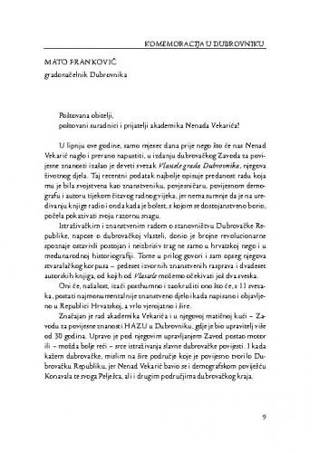 [Govori s komemoracije u Dubrovniku] / Mato Franković, Irena Ipšić, Andro Vlahušić, Stanislava Stojan
