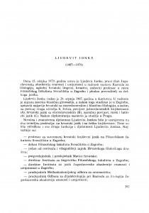 Ljudevit Jonke (1907-1979) : [nekrolozi] / B. Finka