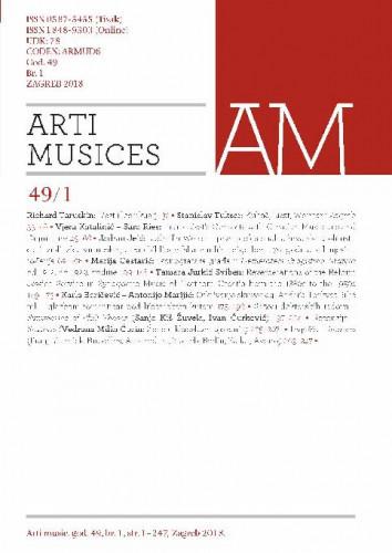 God. 49(2018), br. 1 : Arti musices
