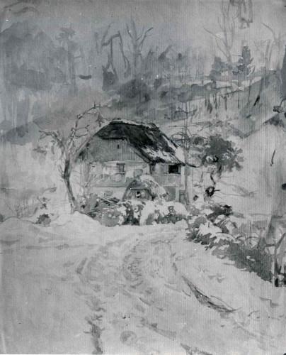 Raškaj, Slava(1877-1906): Kuća u snijegu ]