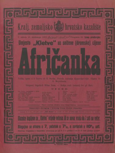 Afričanka Velika opera u 5 činova