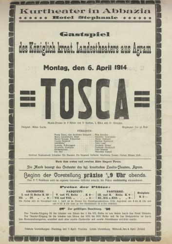Tosca : Musik-Drama in 3 Akten
