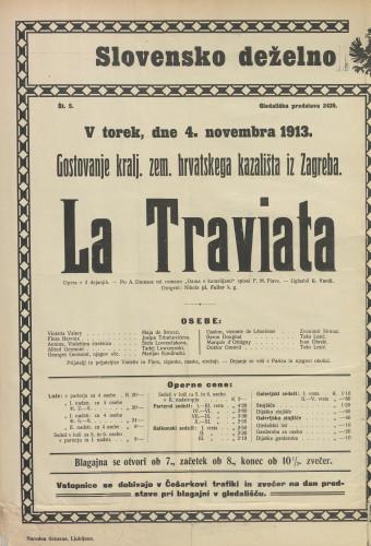 Traviata Opera v 3 dejanjih