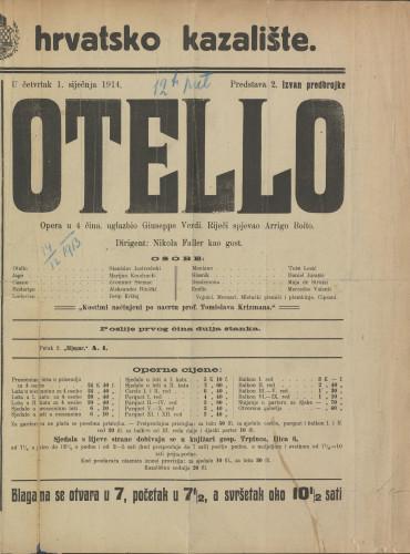 Otello Opera u 4 čina / uglazbio Giuseppe Verdi