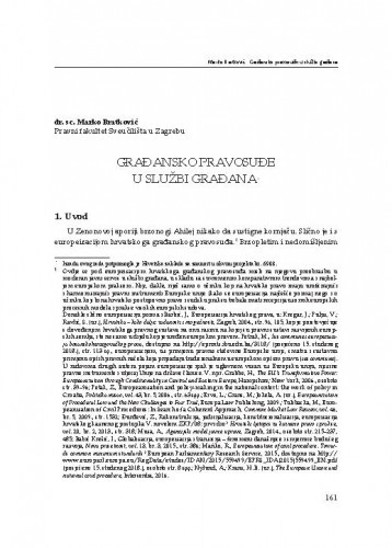 Građansko pravosuđe u službi građana : [uvodno izlaganje] / Marko Bratković