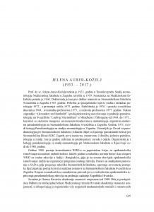 Jelena Aurer-Koželj (1933.-2017.) : [nekrolog]