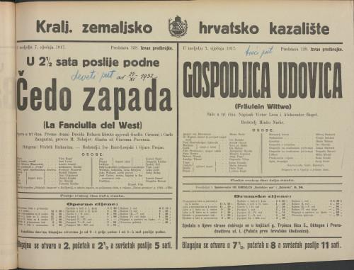 Čedo zapada Opera u tri čina  =  La Franciulla del West