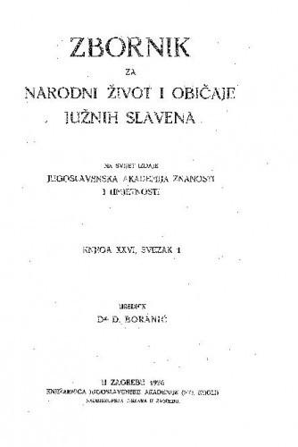 Knj. 26. (1928) / urednik D. Boranić
