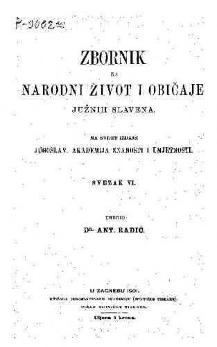 Knj. 6. (1901) / uredio Antun Radić