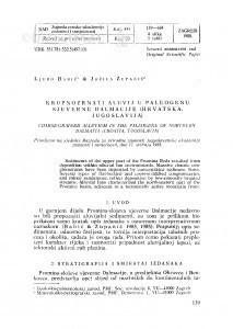 Krupnozrnati aluvij u paleogenu sjeverne Dalmacije (Hrvatska, Jugoslavija) / Lj. Babić, J. Zupanič